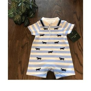 LAURA ASHLEY BABY SHORTS ROMPER SIZE 6-9 MONTHS